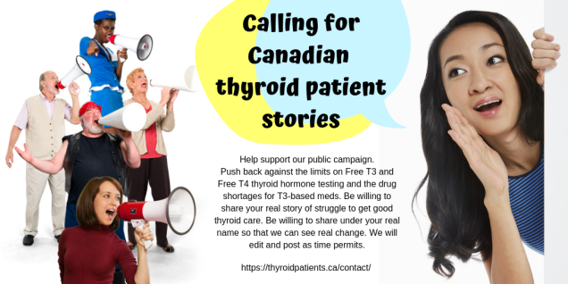calling for thyroid patient stories