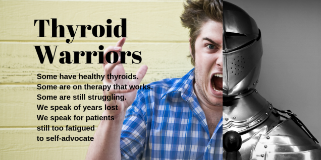 Thyroid warrior man