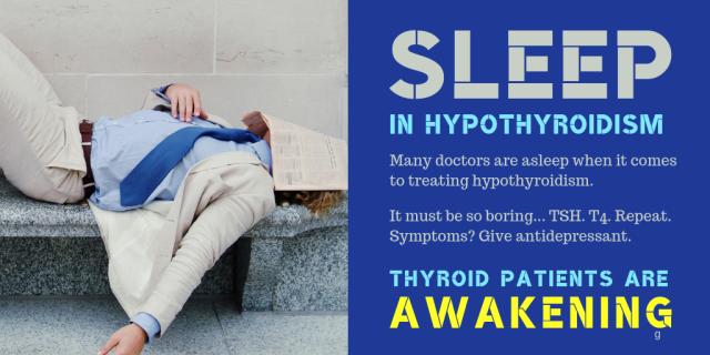 Sleep in hypothyroidism