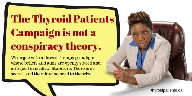 The thyroid patients' campaign is not a conspiracy theory