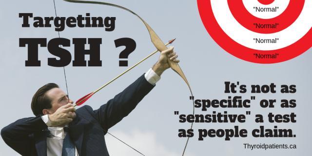 TSH not specific sensitive